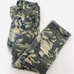 Kroik Boys Army Distressed Jeans | SZ 10